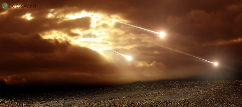 Falling Meteorite